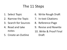 steps in writing a research paper middle school ten steps for writing research papers american university