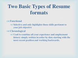 Resume Chronological Format Resume Template Ideas