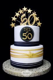 50th Birthday Cake Gold Black White Ausam Cakes In 2019 Birthday