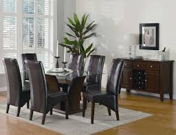 modern gray leather dining chairs fresh black and oak dining table ordinary black leather dining room