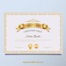 elegant diploma golden vintage vector  elegant diploma golden vintage vector