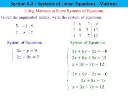 solving a system of equations with matrices jennarocca