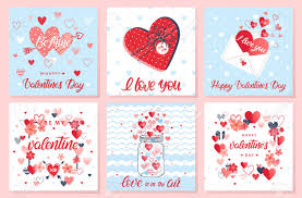 Collection Of Creative Valentines Day Cards Hand Drawn Lettering