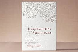 white lace letterpress wedding invitations by lauren chism minted Letterpress Wedding Invitations Free Samples \