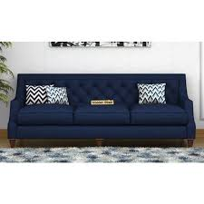 o2 accent 3 seater fabric sofa navy