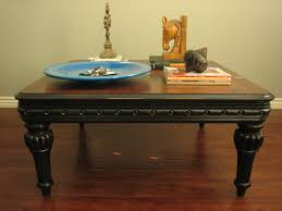 coffee table top view. Coffee Table, Distressed Black Table Is A Part Of Top View