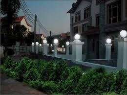 outdoor globe lighting fence
