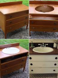 furniture repurpose ideas. Repurpose An Old Dresser Into A Bathroom Vanity Furniture Ideas S