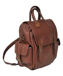 all gone brown three way leather backpack