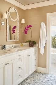 Transitional bathroom ideas Bathroom Designs Interiors White And Gold Bathroom With Gray Tile Floor Transitional Bathroom White And Gold Bathroom Lorikennedyco Interiors White And Gold Bathroom White And Gold Bathroom With