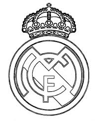 Real Madrid Logo Soccer Coloring Pages Coloring Pages Real