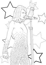 Small Picture Taylor Swift Coloring Pages Ppinewsco