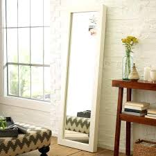 white leaning floor mirror. Interesting Mirror Perfect White Leaning Floor Mirror On Furniture Parsons Lacquer West Elm  Ikea Astonishing With White Leaning Floor Mirror Baumpark
