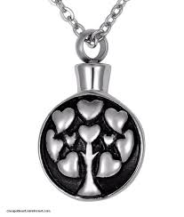 cinerary necklace with urn or vial