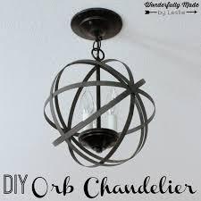 Wonderfully Made Diy Orb Chandelier