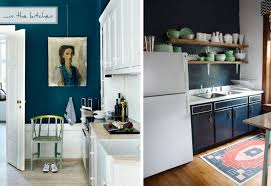 blue black kitchen