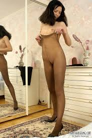 Mike pantyhose clad couple