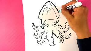 Draw a Squid - Easy Drawing Lessons ...