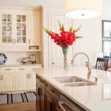 Kitchen ideas cream cabinets Cream Colored Traditional Kitchen With Cream Cabinets Island Drum Fixture And Hardwood Floors Photos Hgtv Photos Hgtv