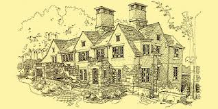 architecture house sketch. Brilliant Sketch Tudor Estate House  Design Sketch  Front Facade Columbus Ohio And Architecture
