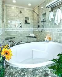 corner garden tub. Corner Garden Tub Shower Size Tile Saw Bathroom Contemporary With Accent Brushed Nickel . E