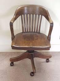 office chair vintage. Vintage Antique Barrel Oak Wood Swivel Office Bankers Library Desk Arm Chair 20s