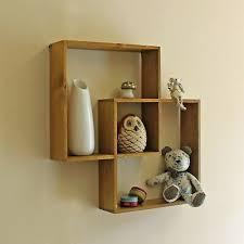 cube wall shelf rustic wood storage
