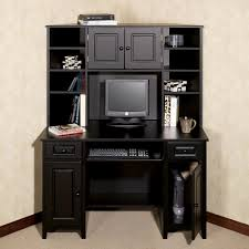 excellent computer desk cabinet computer armoire black wooden desk with drawers and shelves