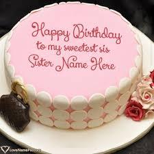 Online Birthday Cake Maker For Sister Name Generator Birthday