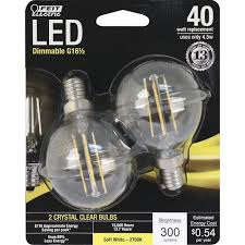 feit electric 40w equivalent dimmable soft white g12 5 candelabra e12 led bulb 2 pack at menards