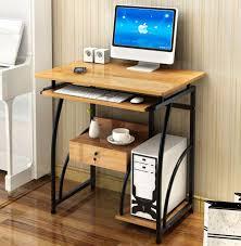 essential high gloss office student computer desk wood grain