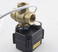 motorized ball valve hsh flo 1 2 3 way t port brass motorized ball valve dc5v 12v electrical valve
