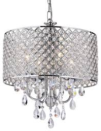 mariella 4 light crystal drum shade chandelier chrome