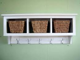 Wall Coat Rack With Baskets New White Wall Coat Rack Modern Wall Hook Modern Design Solid Wooden