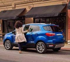 2018 ford suv. perfect ford the 2018 ecosport titanium in lightning blue parked front of a store and ford suv