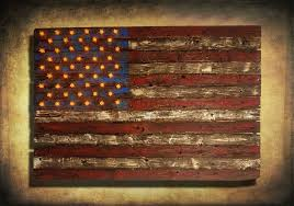 american flag weathered wood edison bulb 3d wooden vintage art