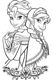Раскраски из мультфильма <b>Холодное сердце</b> (<b>Frozen</b>)