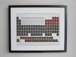formula one periodic table art print by on a sixpence ...