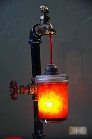 industrial steampunk styled desk lamp
