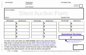 What Is Silent Auction Northwest Benefit Auctions Silent Auction Forms