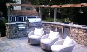 modular outdoor kitchen units best of island master forge refrigerator corner unit kit