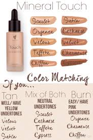 Mineral Touch Foundation Color Chart Pin By Susan Thayn On Younique Younique Foundation Colors