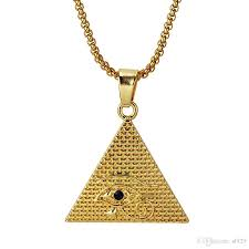whole simple necklace hip hop horus eyes of the pyramid long pendant men and women korean version of jewelry ornaments tide accessories heart pendant