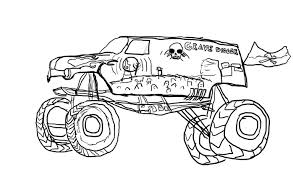 Grave Digger Monster Truck Coloring Pages At Getdrawingscom Free