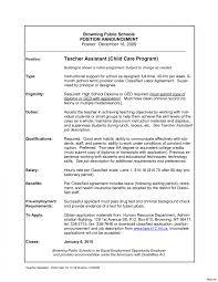 Childcare Worker Resume Child Care Teacher Job Description Template Perfect Worker Resume 17