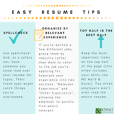 Important Resume Tips 3 Easy Resume Tips Infographic Knf T Staffing Resources