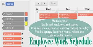 easy work schedule maker employee work schedule multi calendar by wolberspl codecanyon
