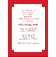 40th Wedding Anniversary Invitations Wording