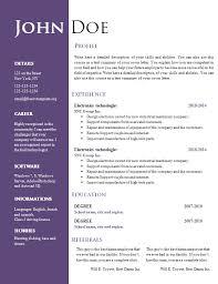 Resume Template Resume Templates Doc Free Career Resume Template