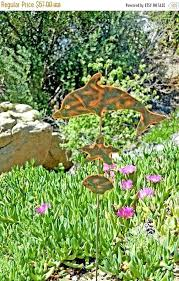 dolphin metal yard art copper garden stake outdoor sculpture diy